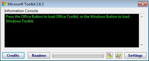 Стартовое окно активатора Microsoft Toolkit